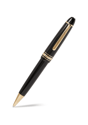 MONTBLANC - Meisterstück Le Grand Resin and Gold-Plated Ballpoint Pen - Men - Black