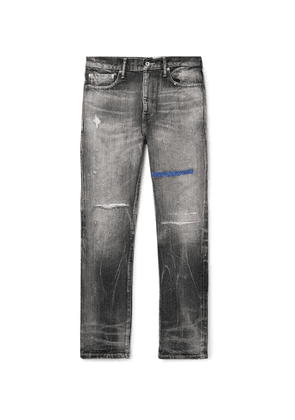 Neighborhood - Block Savage Distressed Denim Jeans - Men - Black