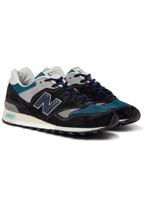 New Balance - 577 Suede, Rubber, Mesh and Leather Sneakers - Men - Blue