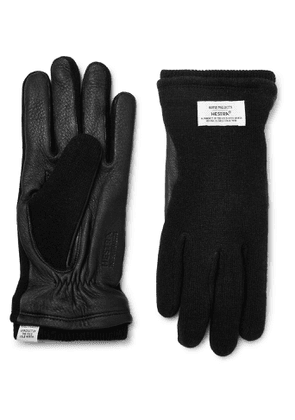 Norse Projects - Hestra Svante Leather and Knitted Gloves - Men - Black