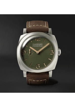 Panerai - Radiomir Automatic 45mm Stainless Steel and Leather Watch, Ref. No. PAM00995 - Men - Green