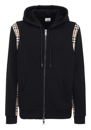 Check Cotton Zip-up Sweatshirt