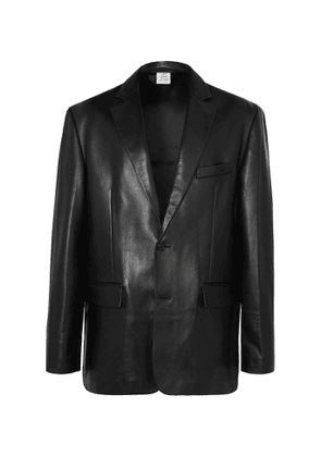Vetements - Oversized Leather Blazer - Men - Black