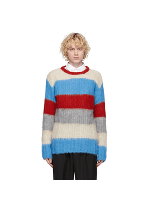 Maison Kitsune Blue Alpaca Stripe Sweater