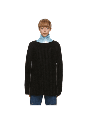 Raf Simons Black Transformer Cape Sweater