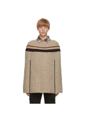 Raf Simons Beige Transformer Cape Sweater