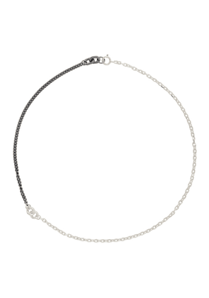 Chin Teo Silver and Gunmetal Legion Bond Necklace