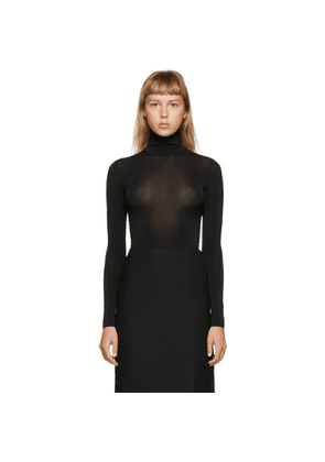 Valentino Black Viscose Classic Turtleneck
