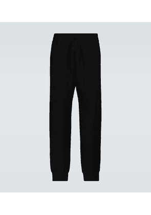 Knitted cashmere trackpants