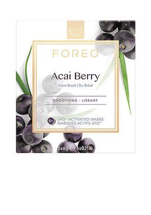FOREO UFO Mask 6 Pack in Acai Berry - Beauty: NA. Size all.