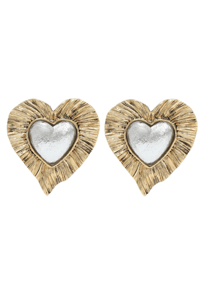 Héritage heart clip-on earrings