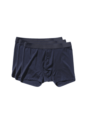 Navy Blue Lyocell Boxer Briefs 3-Pack