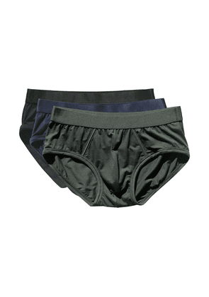 Black, Green and Blue Lyocell Y-Brief 3-Pack