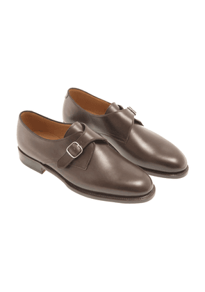 Brown Leather 1883 Heritage 314 Monk Strap Shoes