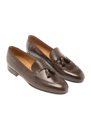 Brown Leather 1883 Heritage 111 Tassel Loafers