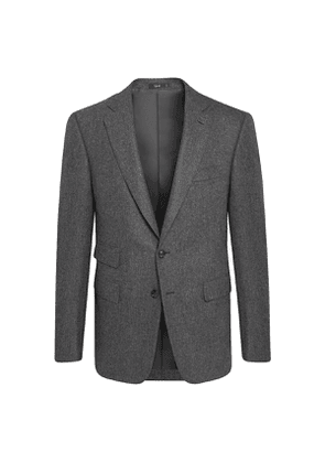 Grey Wool Marbeuf Single Breasted Jacket