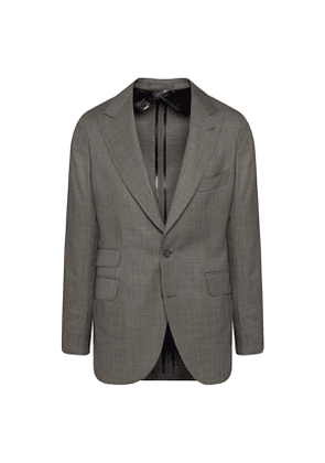 Light Grey Wool Single-Breasted Suit