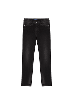 Black Faded Wash Classic Jeans