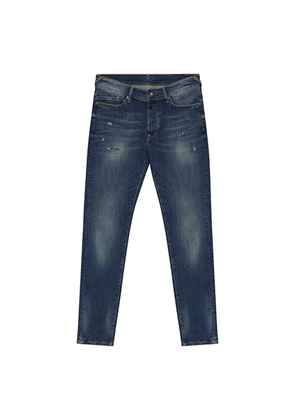 Blue Faded Wash Distressed Jeans