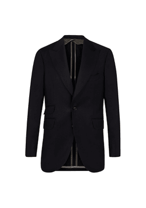 Navy Cashmere-Wool Single-Breasted Suit