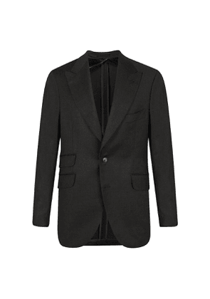Grey Cashmere-Wool Single-Breasted Suit