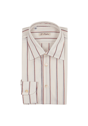 Off White And Red Stripe Exclusive Cloth Shirt