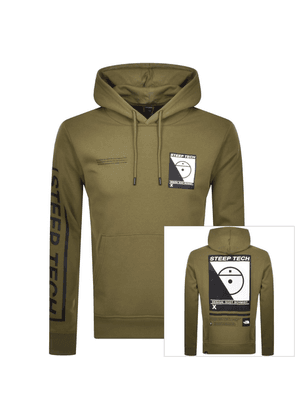 The North Face Steep Tech Logo Hoodie Green