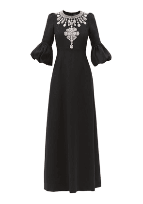 Andrew Gn - Crystal-embellished Crepe Gown - Womens - Black