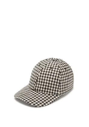 Thom Browne - Houndstooth-check Cotton Baseball Cap - Mens - Black White