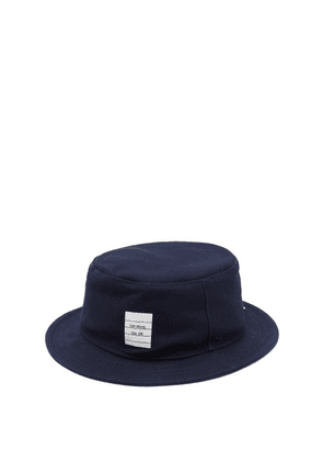 Thom Browne - Logo-patch Canvas Bucket Hat - Mens - Navy