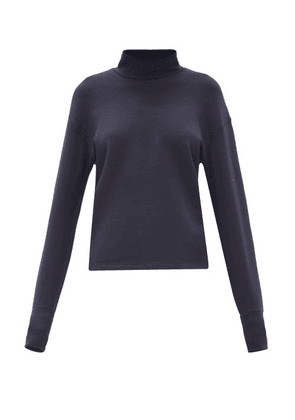 Aztech Mountain - Kristi's Roll-neck Sweater - Womens - Navy