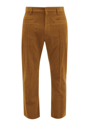 Bed J.w. Ford - Cropped Wool-blend Corduroy Trousers - Mens - Brown