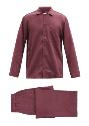 CDLP - Satin Pyjama Set - Mens - Burgundy