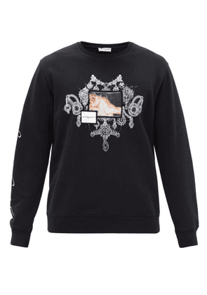 Givenchy - Bijoux And Logo-print Cotton-jersey Sweatshirt - Mens - Black
