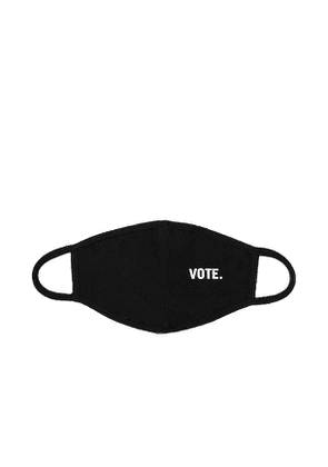 RE/DONE Jersey VOTE Mask in Black.