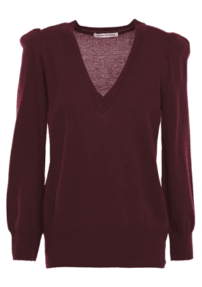Autumn Cashmere Gathered Cashmere Sweater Woman Burgundy Size M