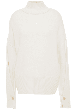 Autumn Cashmere Button-detailed Cashmere Turtleneck Sweater Woman Ivory Size XS