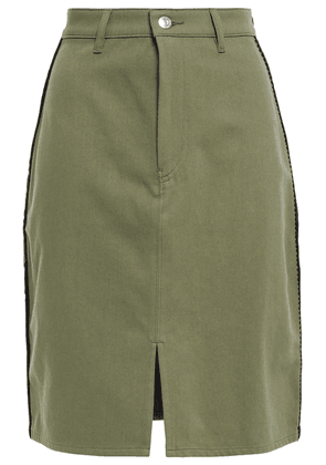 Être Cécile Embroidered Cotton-gabardine Dress Woman Army green Size 38