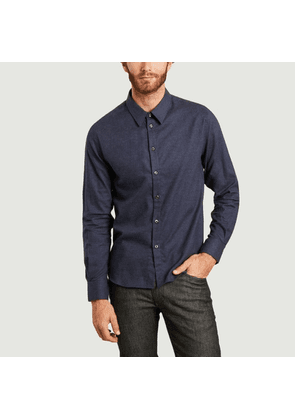 St-Germain cotton and cashmere shirt Navy Editions M.R