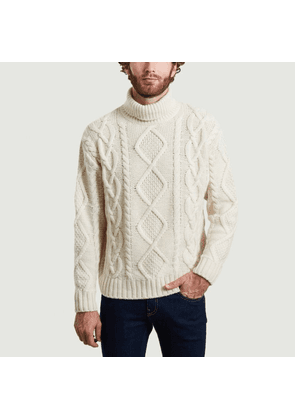 Didrik braided pullover Dusty white Nudie Jeans