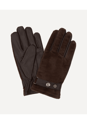 Malton Fleece-Lined Corduroy and Leather Gloves