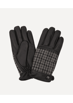 Devon Abraham Moon Dogtooth and Leather Gloves