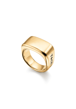 Tiffany 1837™ Makers signet ring in 18k gold, 12 mm wide - Size 10