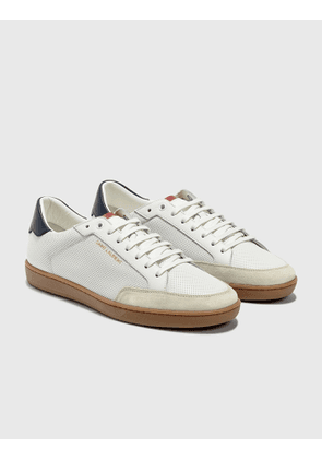 Saint Laurent Court Classic SL/10 Sneakers In Perforated Leather