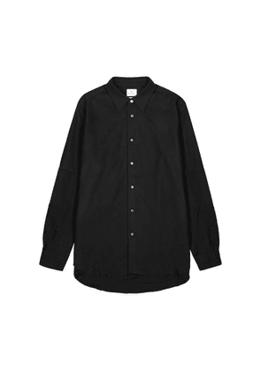PS By Paul Smith Midnight Blue Brushed Cotton Overshirt