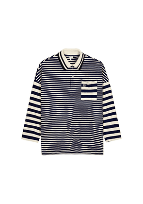 Loewe Striped Knitted Cotton Polo Shirt