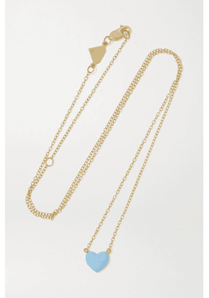 Alison Lou - Heart 14-karat Gold And Enamel Necklace - one size