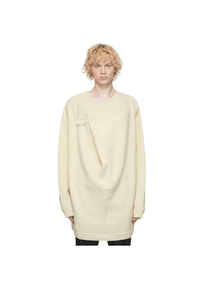 Raf Simons Off-White Wool Pin Sweater