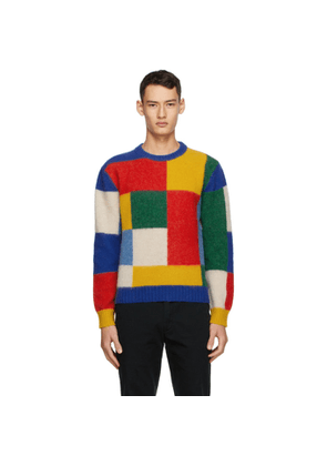 Drakes Multicolor Brushed Primary Colorblock Sweater