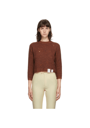 Gucci Brown Ames Soeur Distressed Sweater